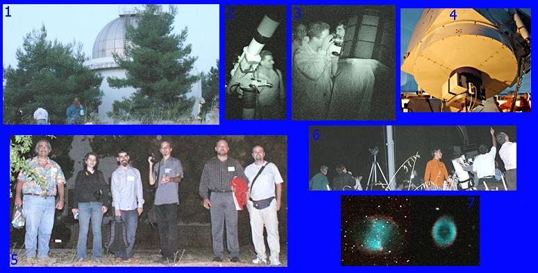 Στιγμιότυπα από την επίσκεψη στο τηλεσκόπιο Κρυονερίου
