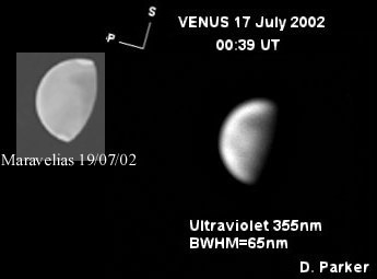 Comparison of Venus Features from optical observations and UV ccd images