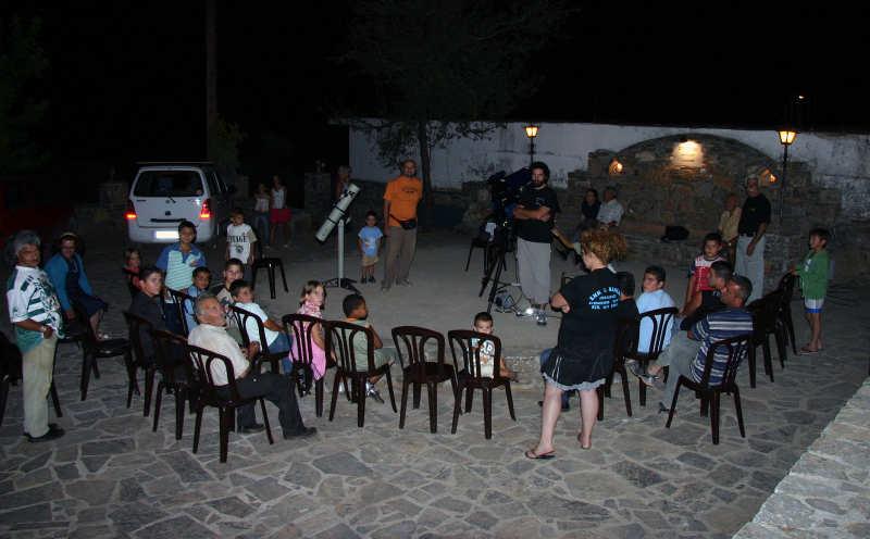 Εκδήλωση ΣΕΑ στις Αλόιδες Κρήτης - ομιλητές και κόσμος