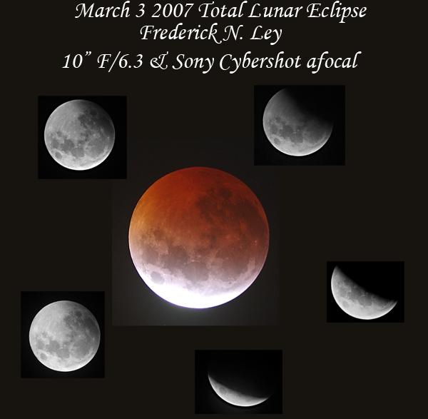 Σύνθεση εικόνων της ολικής έκλειψης Σελήνης (2007) από τον Fred Ley.