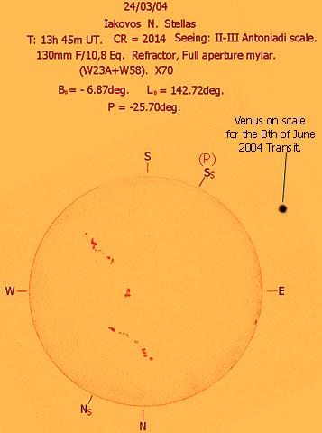 Σχέδιο του Ήλιου (2005 Μάρτιος 24) από τον Ιάκωβο Στέλλα