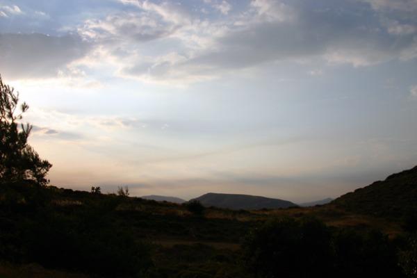 Θέα προς την Αθήνα από το Οβριόκαστρο.