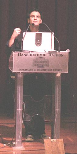 Ο Κωνσταντίνος Ηροδότου, η φιλοσοφία συναντά την αστρονομία! (φωτ. Μάνος Καρδάσης)