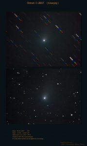 Εικόνα του E2 Lovejoy στις 5 Μαΐου 2007, από τον Δημήτρη Κολοβό.