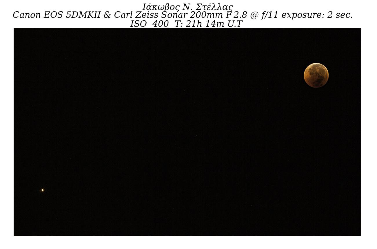 Σύνοδος Άρη και Σελήνης. (Ιάκωβος Στέλλας)